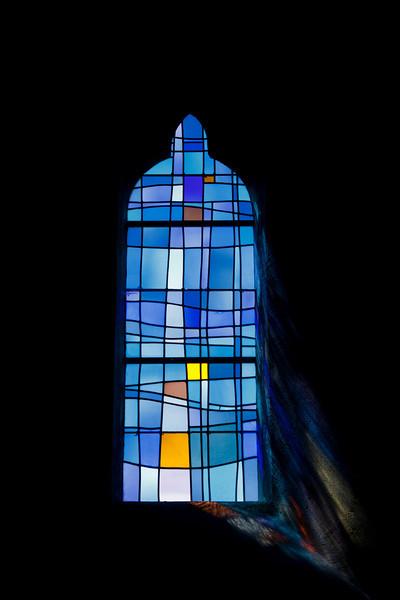 Window of Sainte Pétronille church - La Pernelle, Basse Normandy, France