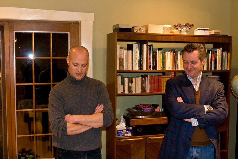 Jim and Chris - the same pose