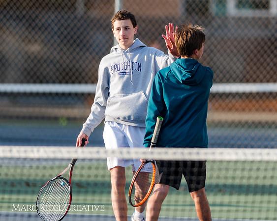 Broughton tennis vs. Cardinal Gibbons. March 13, 2018,.