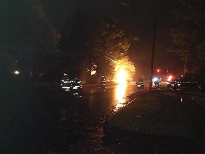 Gas Main Fire - Unknown Address, Weathersfield, CT - 9/22/14