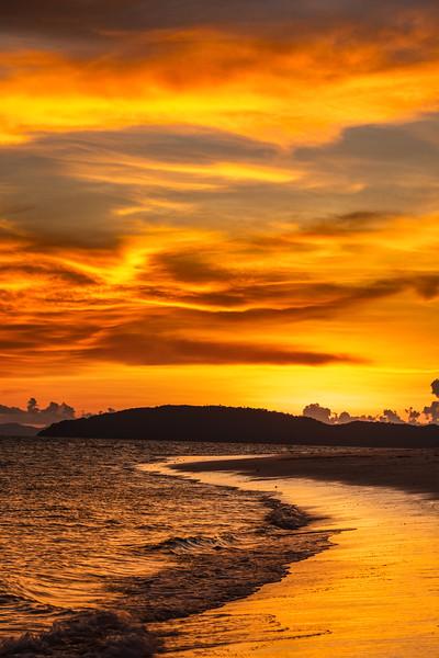 Tropcal beach sunset