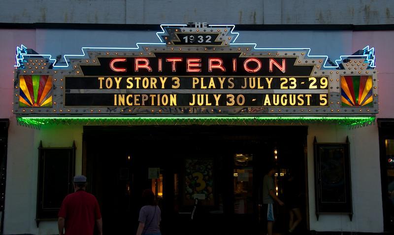 Classic art deco theater in Bar Harbor