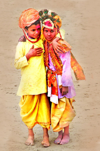 Two friends at Holi