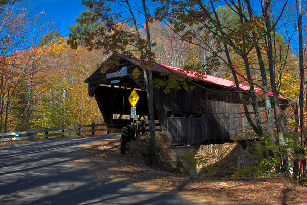 Durgin Bridge, A Covered Bridge in the White Mountains of New Hampshire