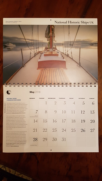 Peter Robyn in the National Historic Ships UK Calendar