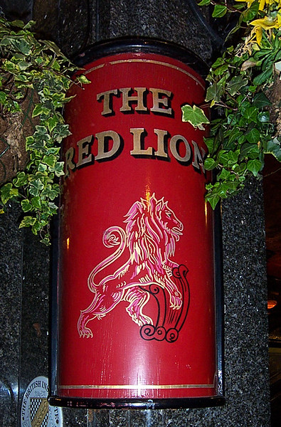 Exterior Sign for the Red Lion