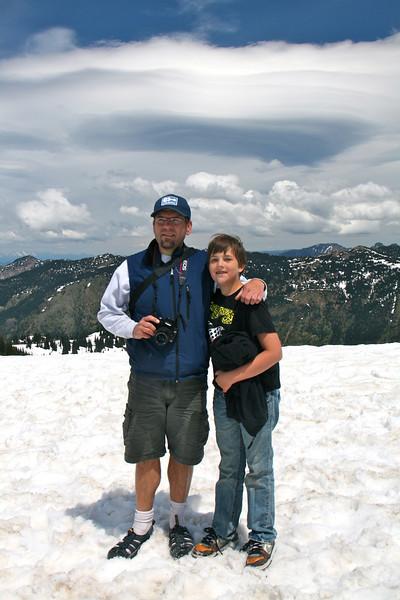 Joel and Miles at Crystal Mountain Ski Resort.