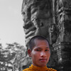 Buddhist monk, Angkor, Cambodia