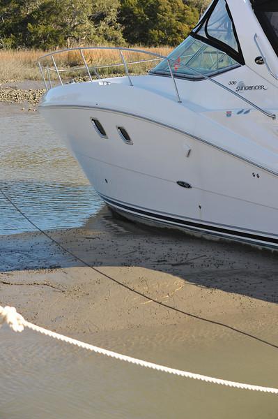 Jekyll Harbor Marina Lower Tide 02-18-11