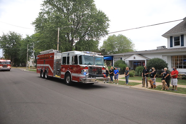Boone County 2 Fire Protection District Firefighter Colton Gritzmacher Procession