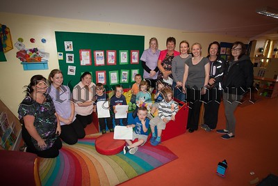 Giggles is school ready. Pictured is Giggles Early Years Innovative Summer Scheme which ensures children who are about to start school are school ready. Giggles Early Years have been wirking in collaboration with 6 ;local Primary schools. R1633001