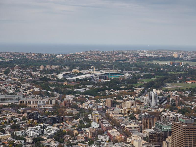 Sydney Tower - Sydney cricket ground and Allianz Stadium.