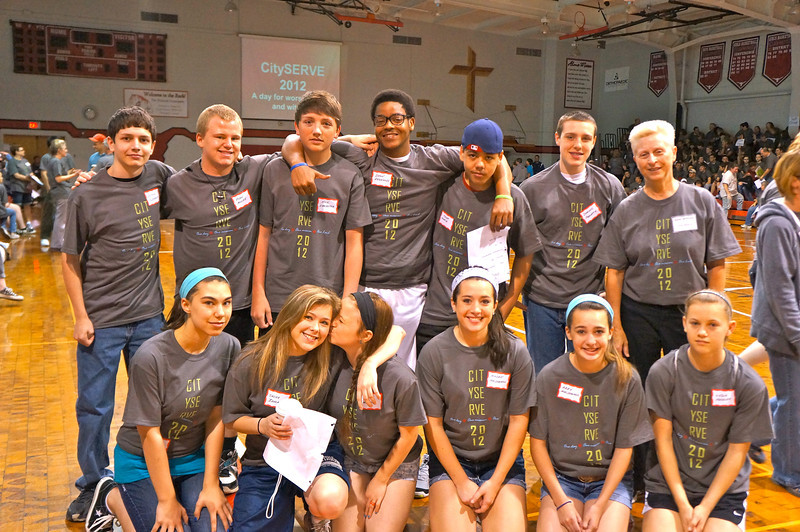 City Serve 2012: 500 people launching to 40 project sites throughout the Cleveland area.
