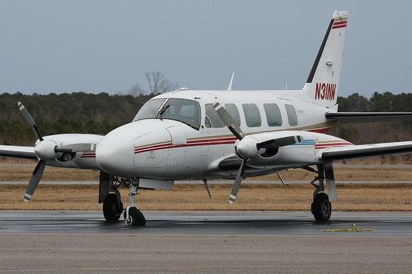 "1981 Piper PA-31-350 ""Navajo"", Norfolk, 04Feb18"