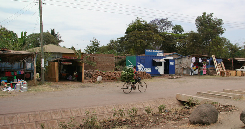 The town of Mto Wa Mbu, near Lake Manyara