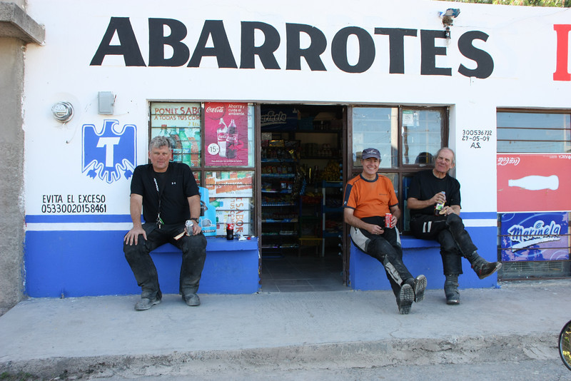 Taking a much needed break after hours of class 3 riding on the General Zaragoza route.