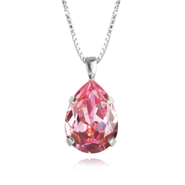 Classic Drop Necklace / Light Rose Rhodium