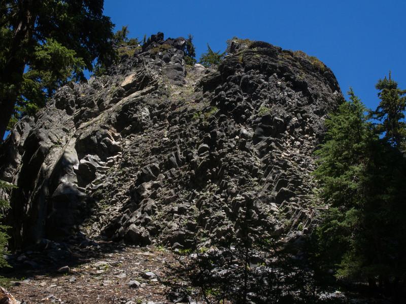 Basalt outcropping