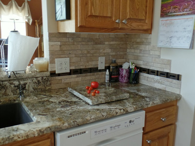 2014-08 - New granite tops and back splash
