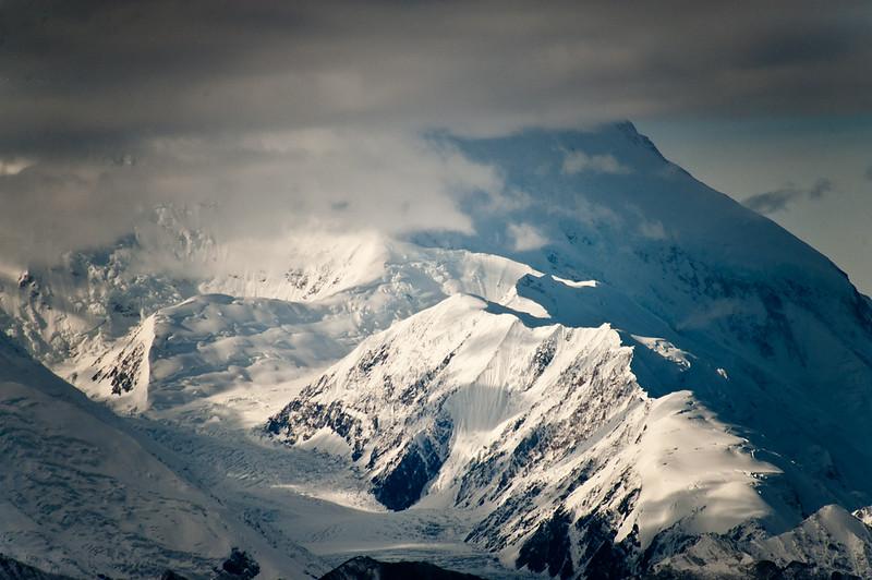 A closer view of Mt McKinley.