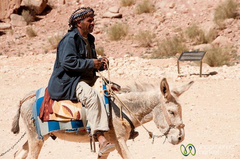 Through Petra on a Donkey - Jordan