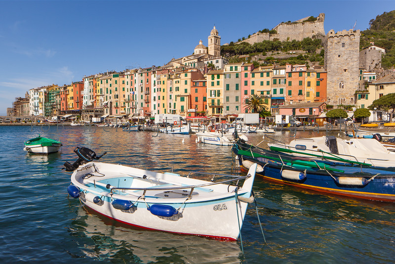 Bright Morning Harbor , Portovenere , Liguria