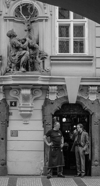 Prague, Mala Strana: Two Conversations
