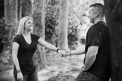 Sara & Pat Paint Fight Engagements