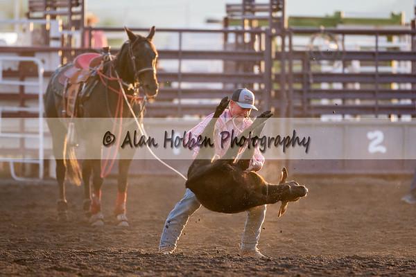 Junior calf roping