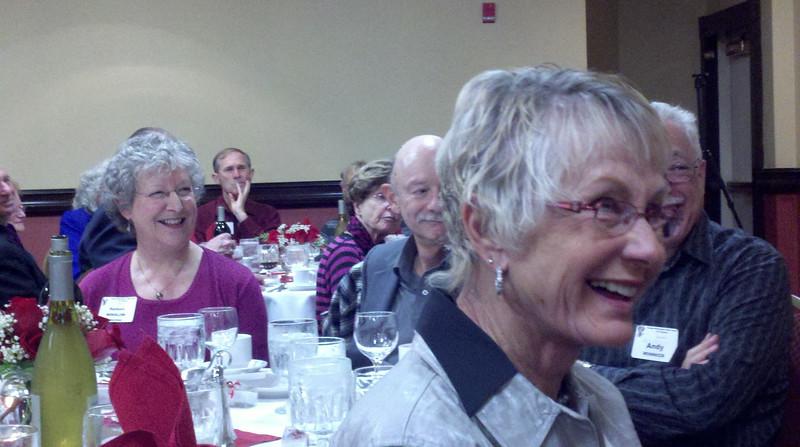 (l-r) Barbara (Winslow) Schechner, Jules Schechner, Andy Winnick in background
