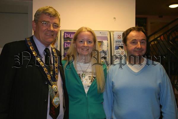 Mayor, Petrina Shields and Pat Mc Ginn.07W12N410