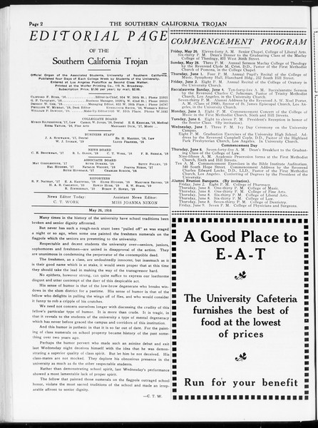 The Southern California Trojan, Vol. 7, No. 124, May 26, 1916
