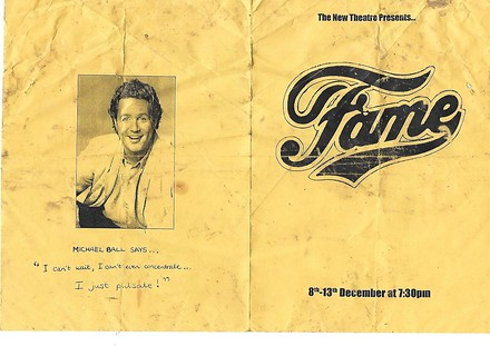 Fame the Musical poster