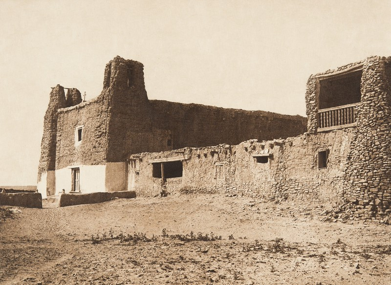 Mission and church at Acoma (The North American Indian, v. XVI. Norwood, MA, The Plimpton Press,  1926)