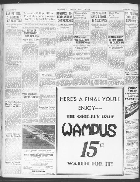 Daily Trojan, Vol. 23, No. 152, May 24, 1932