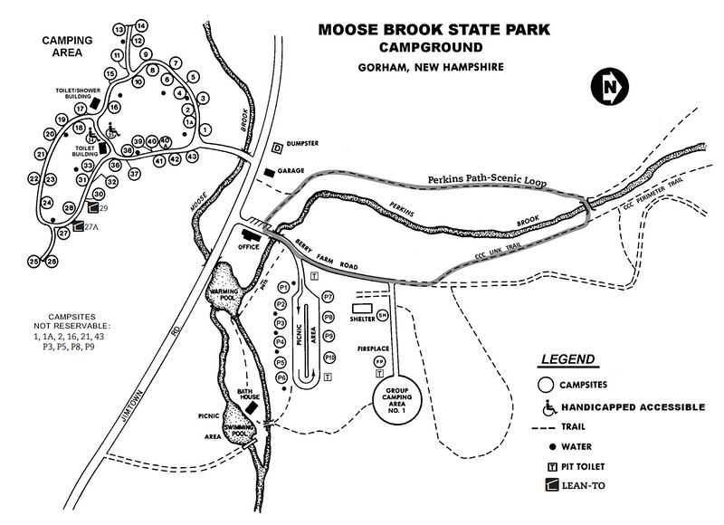 Moose Brook State Park (Campground Map)