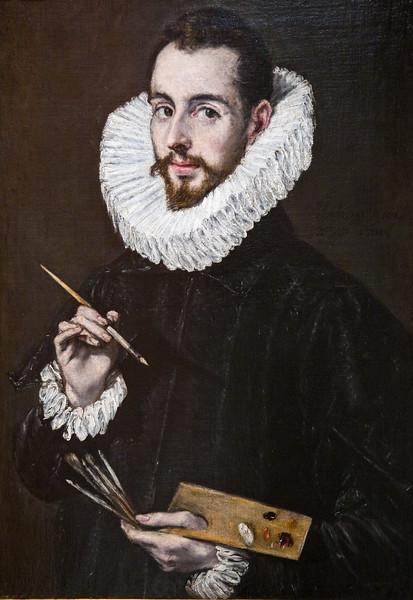 Portrait of his son Jorge Manuel, by El Greco (circa 1600), Fine Arts Museum, Seville, Spain