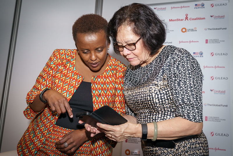 22nd International AIDS Conference (AIDS 2018) Amsterdam, Netherlands.   Copyright: Matthijs Immink/IAS Building bridges from scientific innovation to implementation Photo shows: Green Room Nduku Kilonzo Huma Abbasi