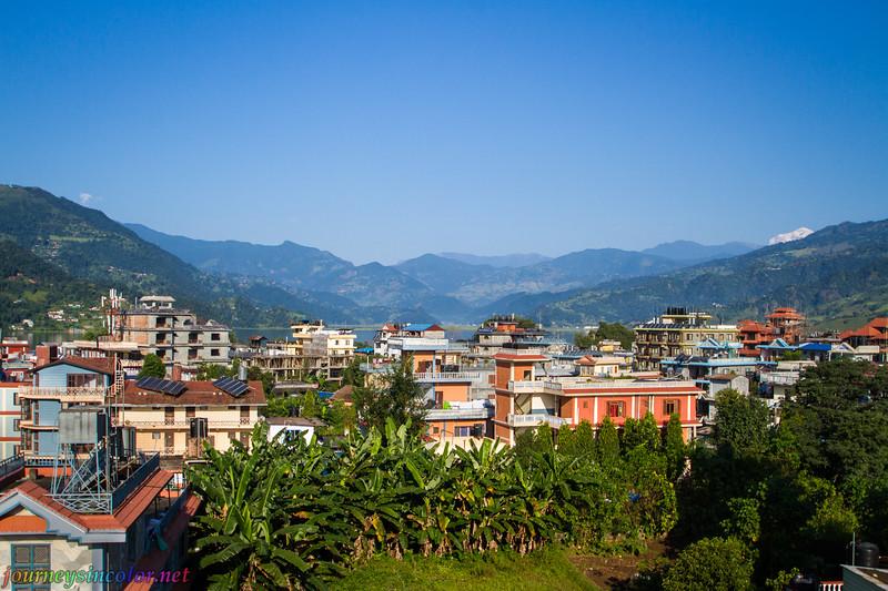 Pokhara, Nepal, with the Himalayas beyond