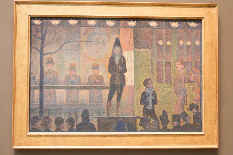 Georges Seuret,  Circus Sideshow (Parade de cirque), 1887-88 -- Metropolitan Museum of Art, New York