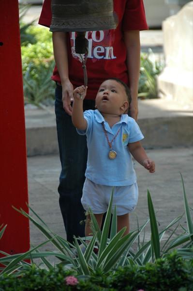 Young Thai Boy at Wat Arun - Bangkok, Thailand