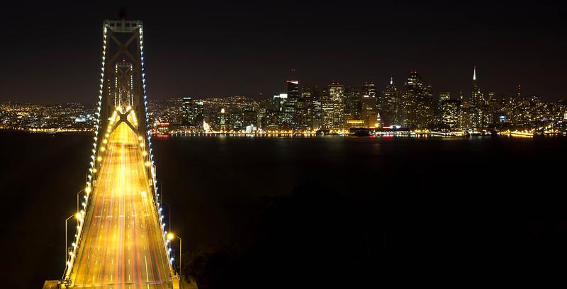 Gateway to San Francisco at Night.