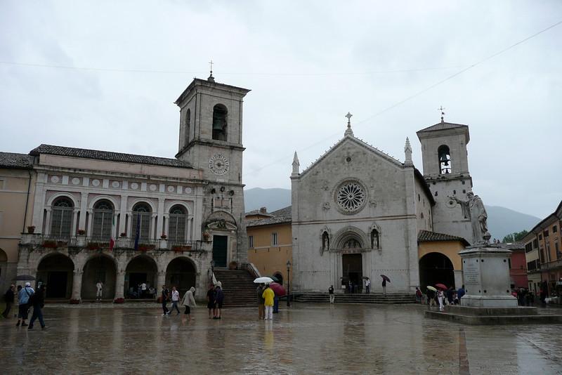 Piazza San Benedetto. Norcia, Umbria