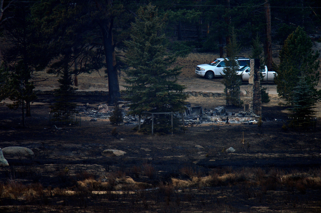 . This is the only lost structure in the open area where the Fern Lake fire rushed 3 miles in 35 minutes at Historic Moraine Park in the  Rocky Mountain National Park, in Colorado Monday, December 3,  2012.    Joe Amon, The Denver Post