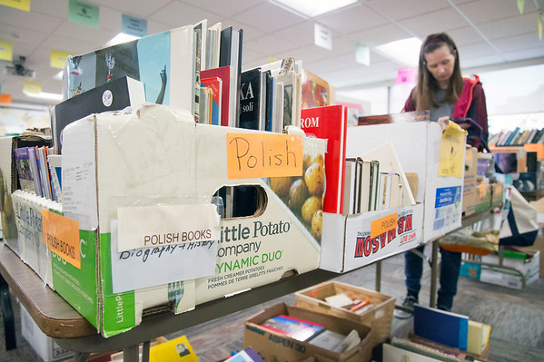 s10/17/19 Wesley Bunnell | StaffrrThe New Britain Public Library hosted their fall book sale with a sneak peak offered on Thursday November 17, 2019 for a small admission fee.