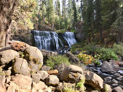 Mt Shasta, McCloud Falls, and McCloud