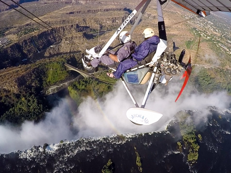 Microlight flight over Victoria Falls