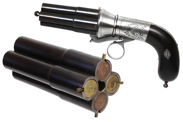 Early Casimir Lefaucheux Pepperbox