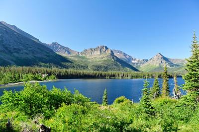 Glacier Park Lodge and Upper Medicine Lake