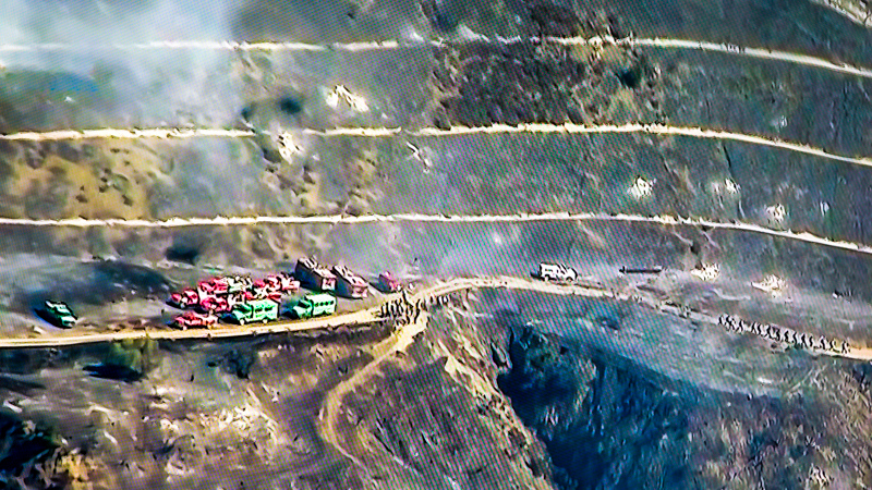 October 28 - Reamins of Getty fire just west of the 405 (I tookthis from TV, not a helicopter).jpg